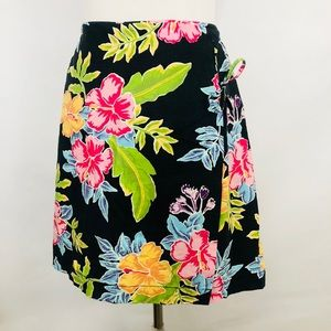 White Stag Stretch Floral Skort Wrap Skirt Size 16
